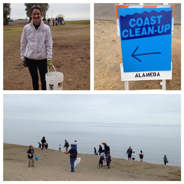 Coastal Clean up Jaime and Nina September 2014