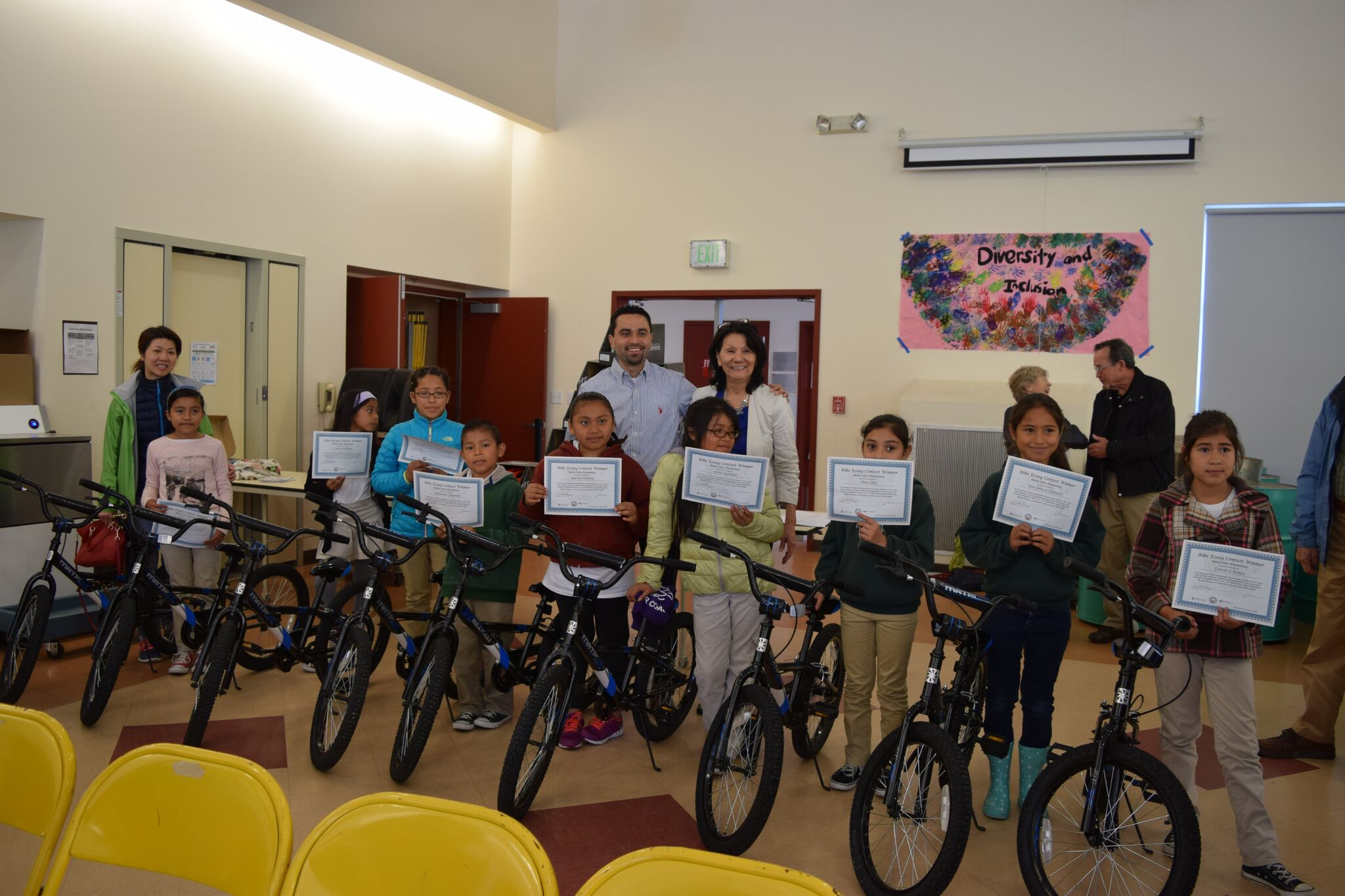 2nd Quarter 2016 Bicycle Give Away Teresa- Francisco -Charlotte