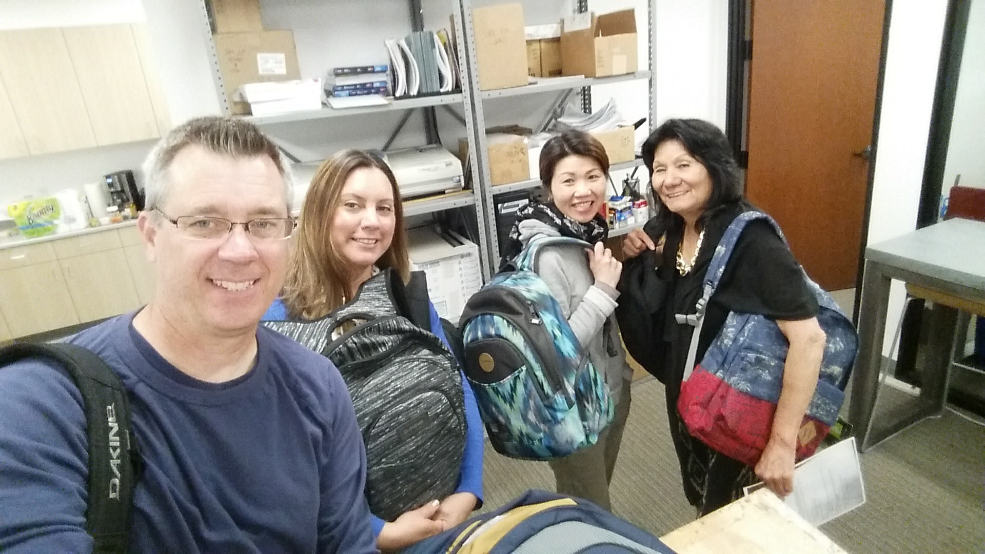 2nd Quarter 2017 Back Packs Ready to Go to Incline June 28-2017
