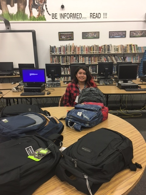 3rd Quarter 2017 Backpacks for 7 Incline students